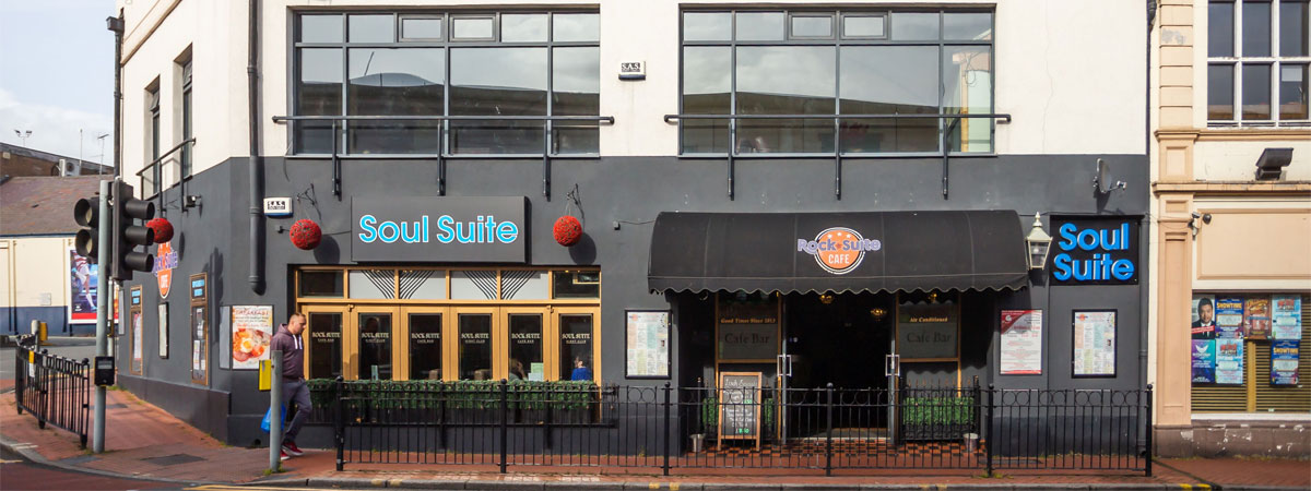 Rock Suite Cafe exterior in Wrexham