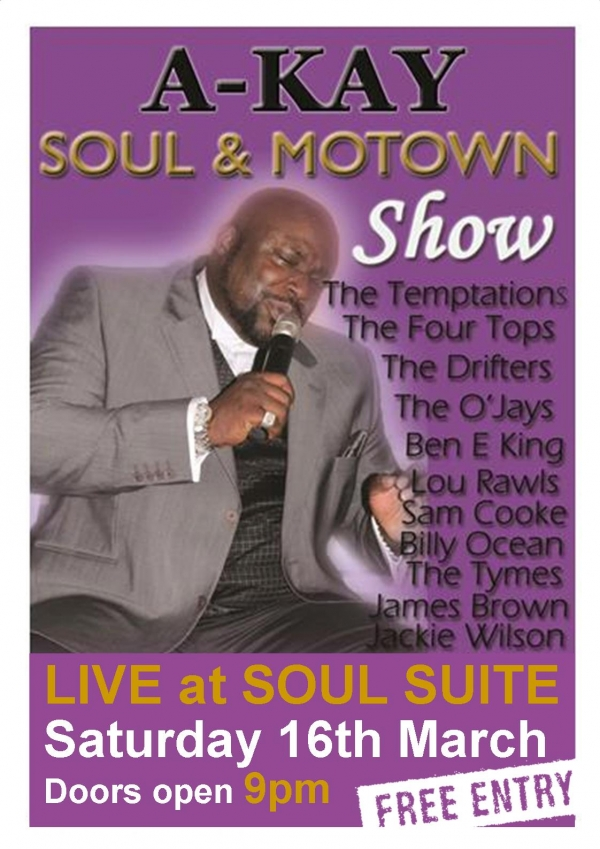 A-KAY  Soul and Motown show