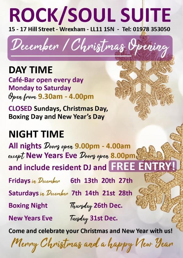 Christmas / New years eve openings