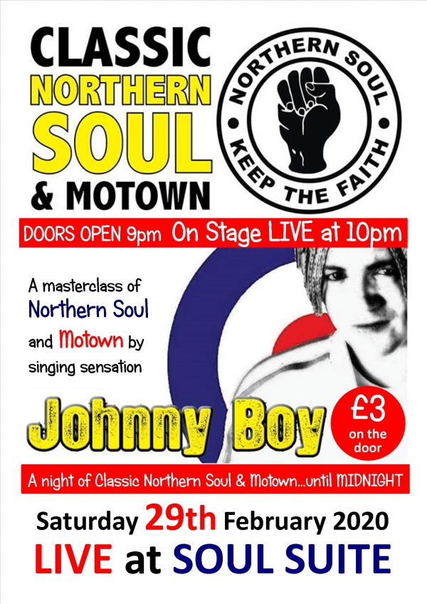 "Johnny ""BOY"" Pryers A masterclass of Motown and Northern Soul"